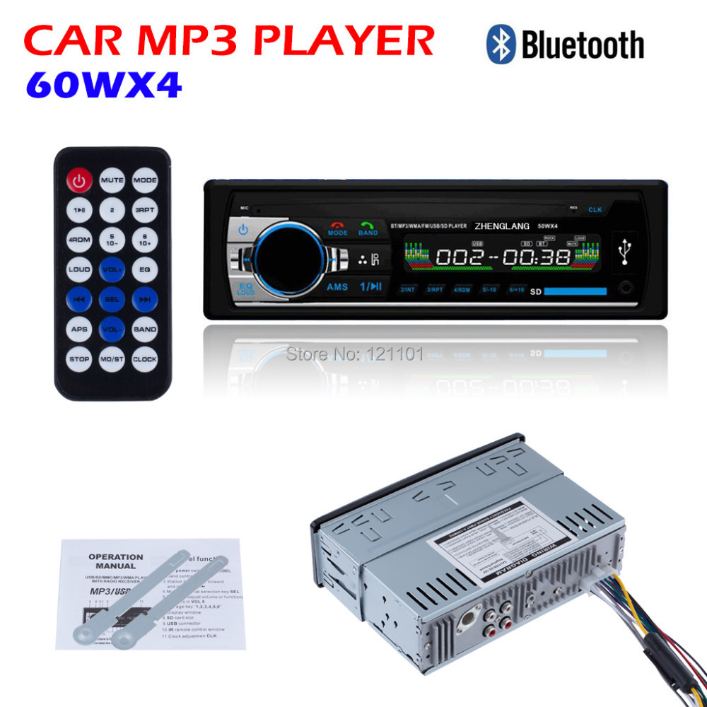 2016 car radio stereo player bluetooth aux in mp3 fm usb 1 din remote control for iphone 12v car. Black Bedroom Furniture Sets. Home Design Ideas