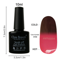 Cosmetic 36 Colors 10ml CB 5704 Nail Gel Polish Temperature Change Nail Color Soak Off Nail Gel UV Lamp For Printer