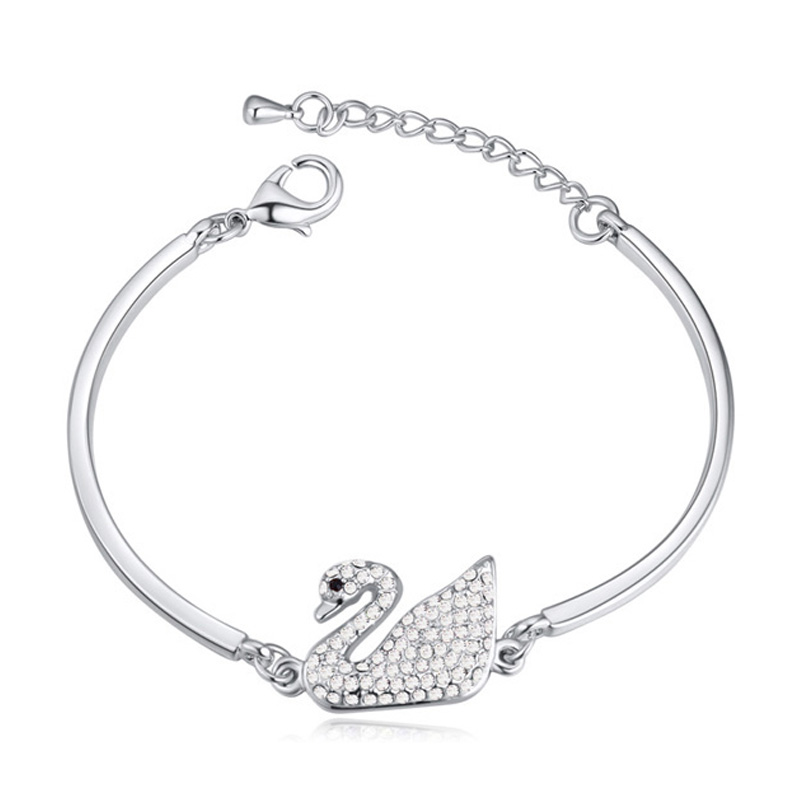 Aliexpress Swan Ballet Austrian Crystal Bracelets for Women Indian Jewelry Made With Swarovski Element Birthday Gift Wholesale(China (Mainland))