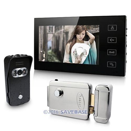 "7"" Video Door Phone System Home Security Intercom 700TVL IR Camera Electric Lock(China (Mainland))"