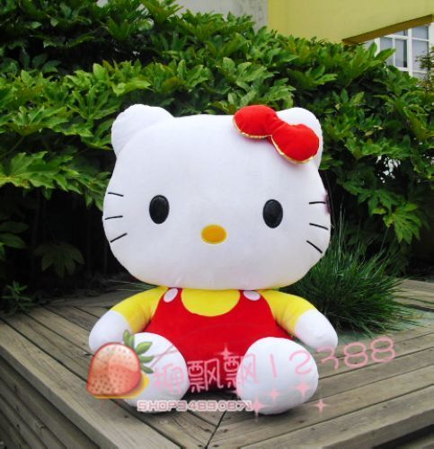 Large 75 hello cat doll toy lovers gift red(China (Mainland))