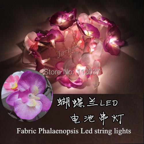 20 LED Battery Chandelier Luminarias Para Sala Home Decoration Navidad Lamp 2.5M Butterfly Orchid Pendant String Lights Lighting(China (Mainland))