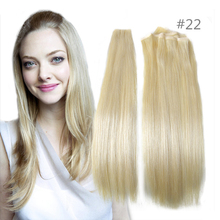 True Skin Weft PU Russian Cuticle Remy Human Hair Extensions Black Brown Blonde Hand Tied Straight Weft un-Tape Maded Hair Weave(China (Mainland))