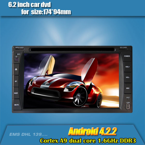 android 4.2 universal 2 din car dvd player car multimedia player with wifi buetooth RDS support 3G(China (Mainland))