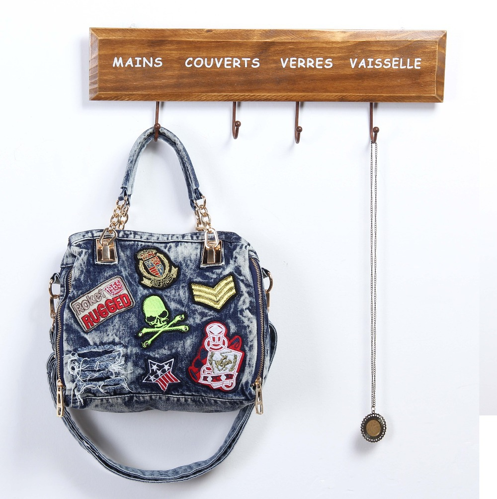 2015 Famous Brand Women Blue Denim Designer Handbag UK Shoulder Jeans Bags Messenger Tote Bag Bolsas W184 - My Style Fashion Store store