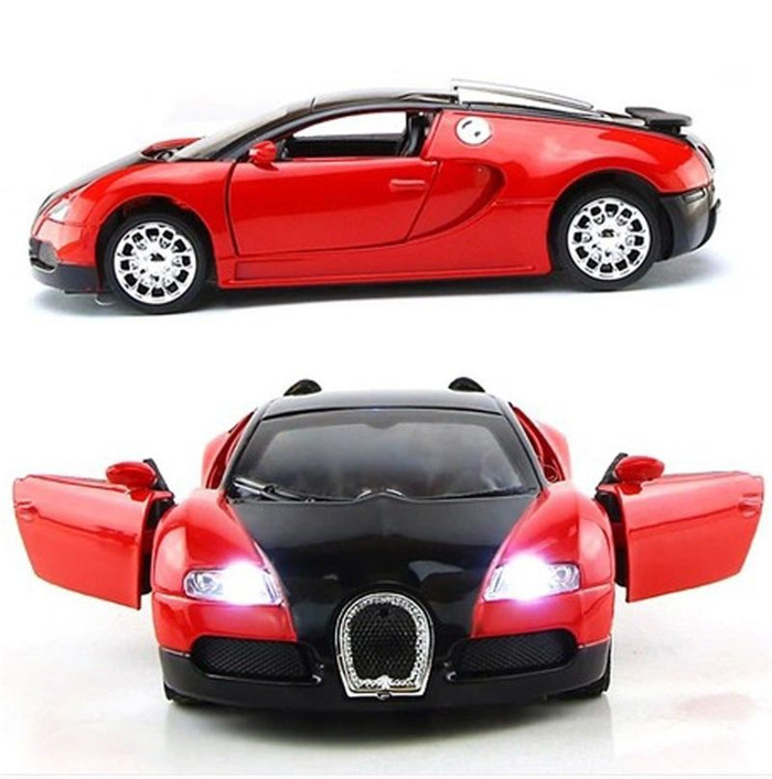 1:36 Scale Model Bugatti Veyron Diecast Car Model With Sound&Light Collection Car Toys Vehicle Gift(China (Mainland))
