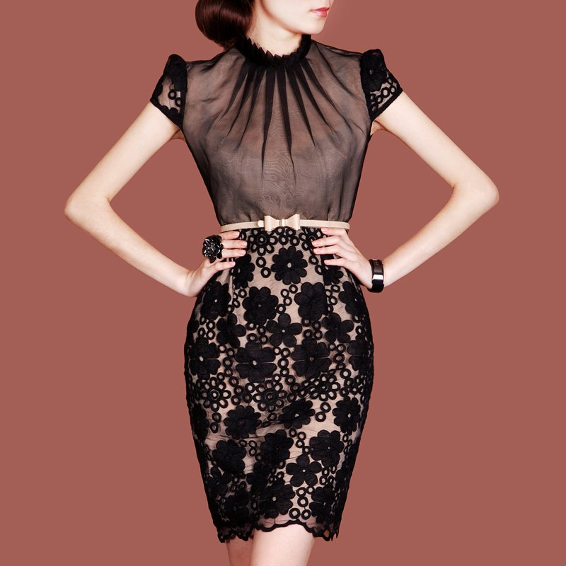 elegant black lace dresses - photo #40