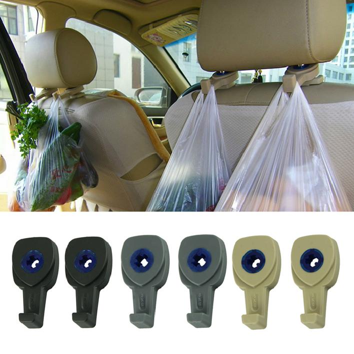 Top Quality 2Pcs Portable Car Auto Seat Hanger Purse Bag Organizer Holder Auto Convenience Hooks Headrest(China (Mainland))