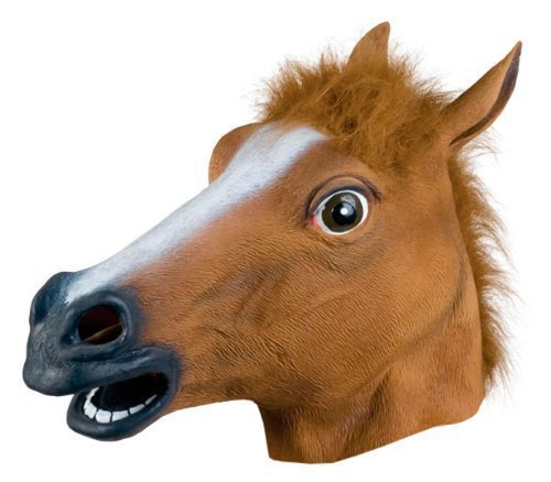 2015 Hot selling Creepy Horse Mask Head Halloween for Christmas Costume Theater Prop Novelty Latex Rubber(China (Mainland))