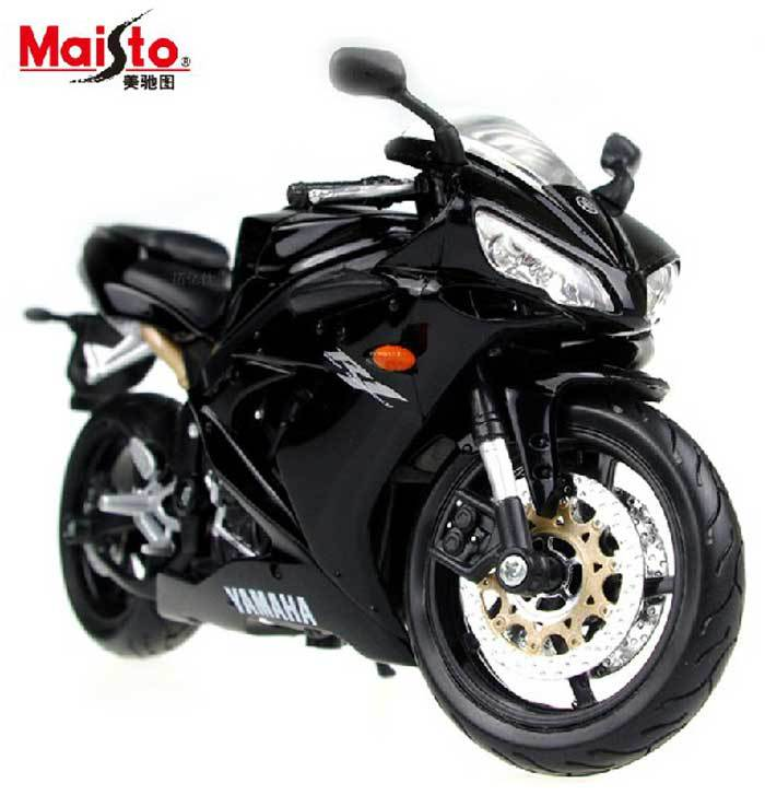 Brand New Maisto 1:12 Scale 2004 Yamaha YZF R1 Black Diecast Motorcycle Model In Stock(China (Mainland))