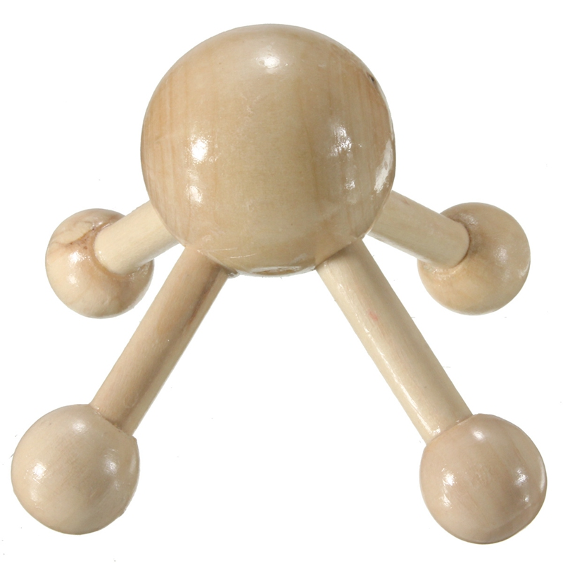 1Pcs Wooden Octopus Shaped Body Foot Back Massager Breast Abdomen Massor Stress Relief Relaxation Tool Beauty Health Care Tool(China (Mainland))