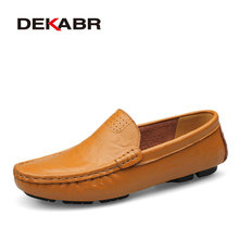 DEKABR Big Size 36~50 High Quality Genuine Leather Men Shoes Soft Moccasins Loafers Fashion Brand Men Flats Comfy Driving Shoes(China (Mainland))