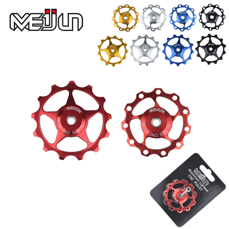 2015 New Product 2 Pcs 11 Tooth MTB Mountain Bikes Rear Derailleur Aluminum Aolly 11T 13T Guide Wheel Idler Pulley Jockey Wheel(China (Mainland))
