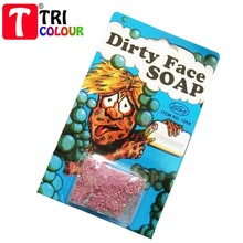 TRICOLOUR Halloween dirty face soap trick toy Harmless prank joke Funny props Supplies High Quality 100pcs/lot #LS82(China (Mainland))