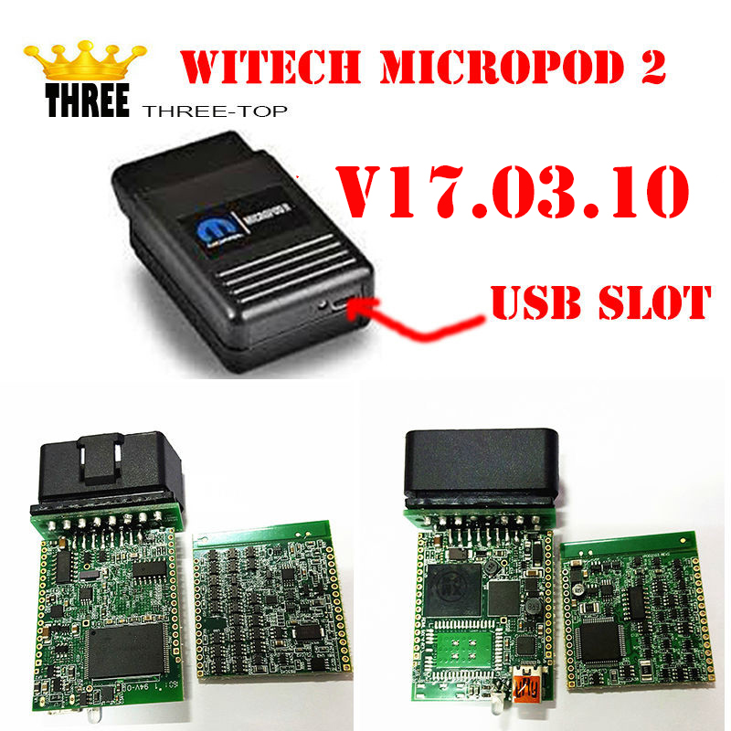 Top selling WITECH MicroPod 2 V17.03.10 VERSION For Chrysler Support Multi-Languages Chrysler latest diagnostic tool by free dhl(China (Mainland))