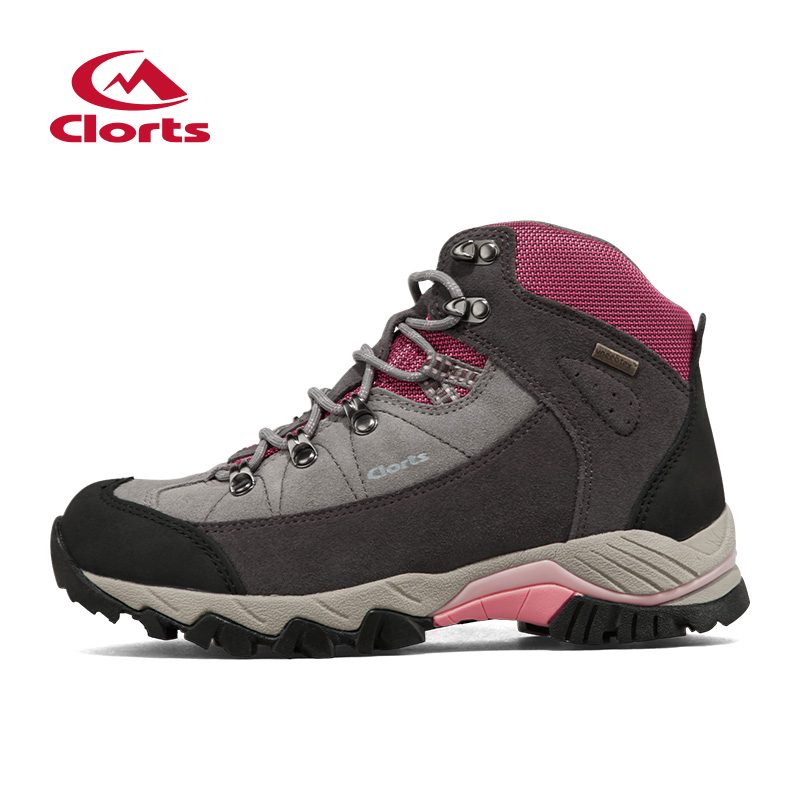 Clorts Cow Suede Hik Mid-Cut <font><b>Hiking</b></font> Boots New Sport <font><b>Shoes</b></font> Women's Outdoor <font><b>Hiking</b></font> <font><b>Shoes</b></font> Waterproof Breathsble <font><b>Shoes</b></font> 3B010A