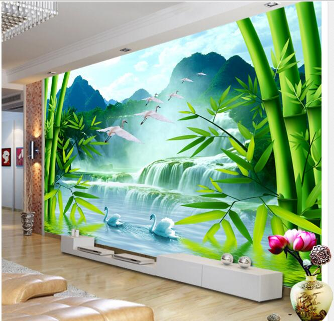 Buy 3d wallpaper custom mural non woven for Buy mural paintings