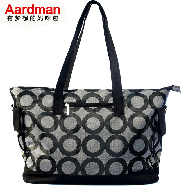 New Arrival  Fashion aardman mommy bag  dot 5pcs 2colors quilted designer large diaper bag for baby HY-196