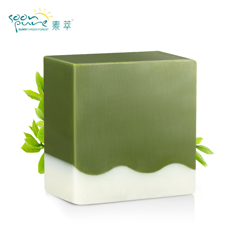 SOON PURE Matcha Blackhead Remover Facial Soap Cleanser Acne Treatment Facial Cleanser Whitening Extractor Skin Care Face(China (Mainland))