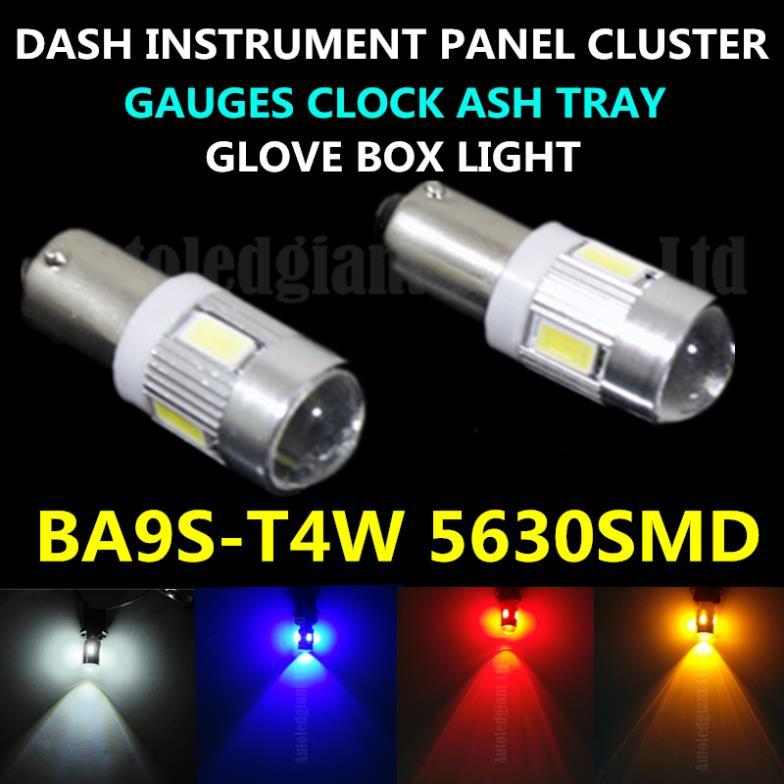 BA9S LED DASH INSTRUMENT PANEL CLUSTER GAUGES CLOCK ASH TRAY GLOVE BOX LIGHT FOR Chevrolet Chrysler Ford Mercury Pontiac 2x(China (Mainland))