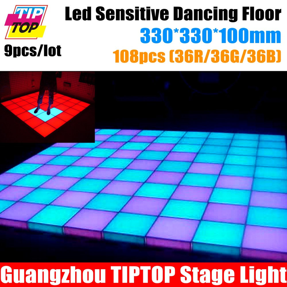 Best Price Wholesale 9pcs/Lot Led Sensor Dance Floor,Pressure Resistent 300KG,WaterProof IP67 Led Inductive Dance Floor Light<br><br>Aliexpress