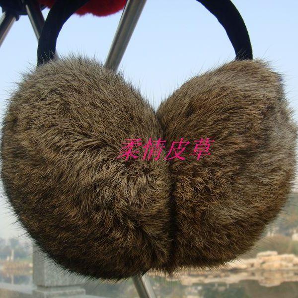 Free shipping- rabbit fur cute earmuffs fur earmuffs thermal ear cover(China (Mainland))