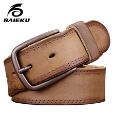 Buy BAIEKU Personality retro leather belt men women style for $34.10 in AliExpress store