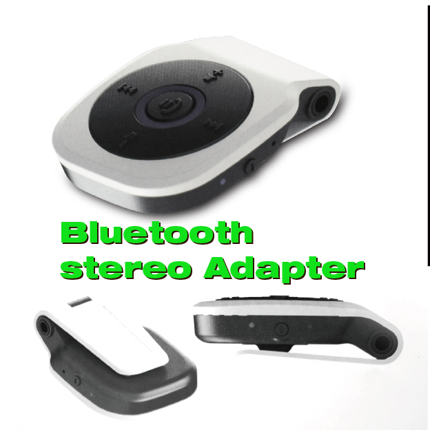 Free shipping wireless bluetooth stereo music receiver headset for IPhone Ipad Computer /Notebook/PC(China (Mainland))