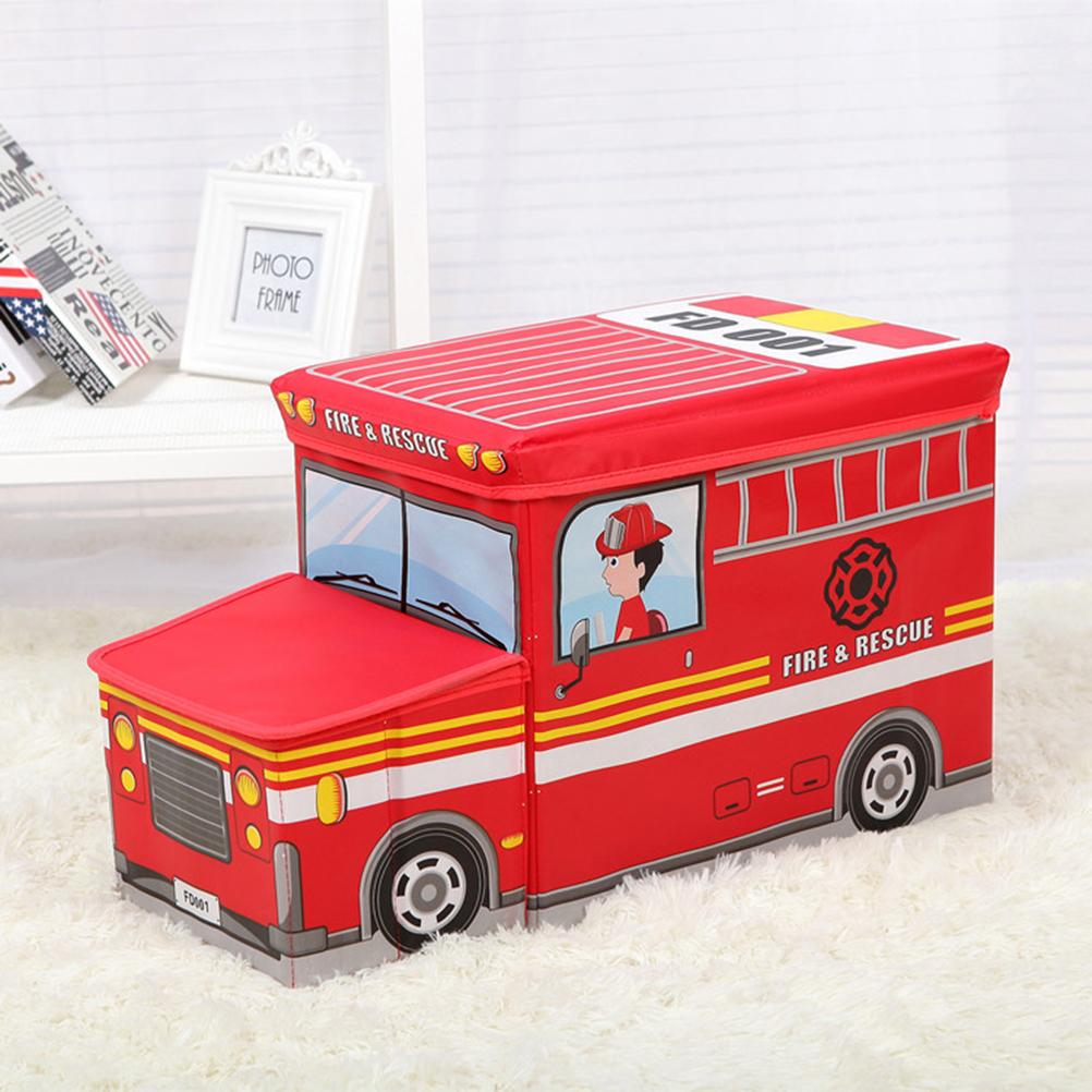 Multifunction Children Folding Kids Storage Box Seat Pop Up Toy Chest Stool Car Organiser Bin Gift (Red)(China (Mainland))
