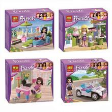4piece/lot Bela Friends Girls Building Blocks Model Kit,Friends Minifigure Bricks Block Enlighten Train(China (Mainland))