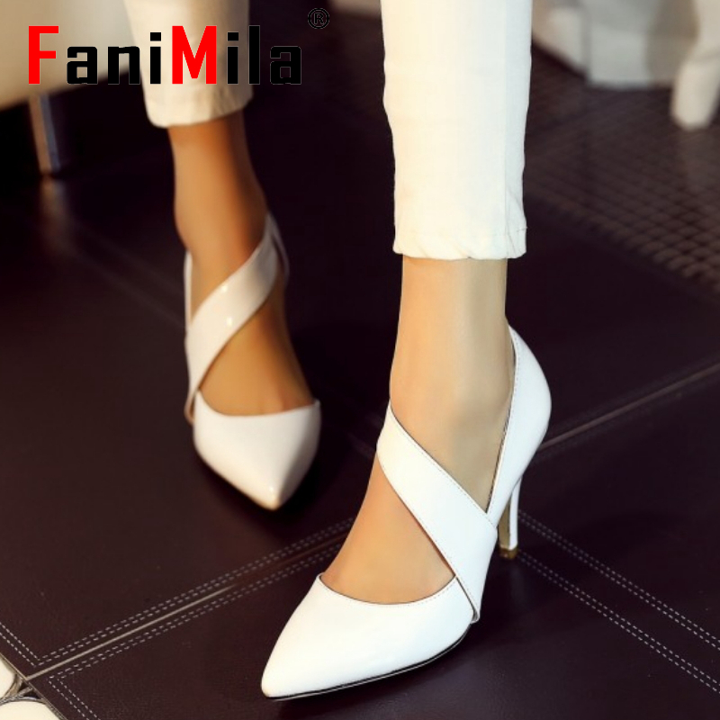 women real genuine leather stiletto wrap strap high heel shoes sexy fashion brand pumps ladies heeled shoes size 34-39 R5555<br><br>Aliexpress