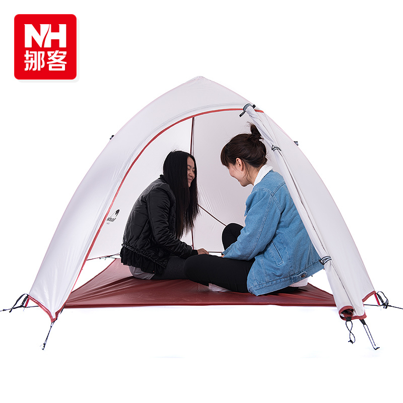 2015 New Fashion 2 Person Tent 20D Silicone Fabric Tent Double-layer Camping Tent Lightweight Tent(China (Mainland))
