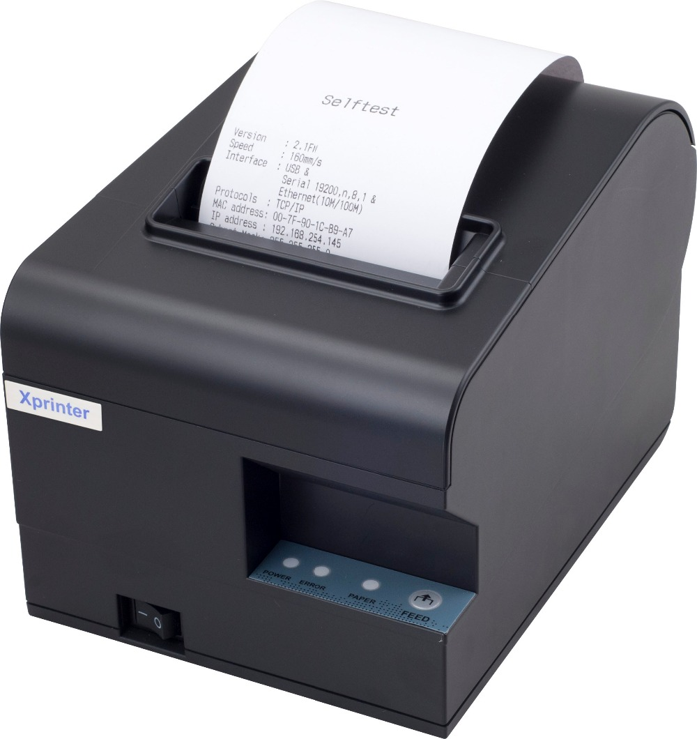 2016 New arrive 80mm auto cutter receipt printer kitchen printer USB+Serial / Ethernet can print Qr code(China (Mainland))