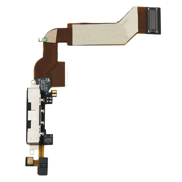 1pc Replacement Charging Port Connector Flex Cable For iPhone 4S Black/White Newest