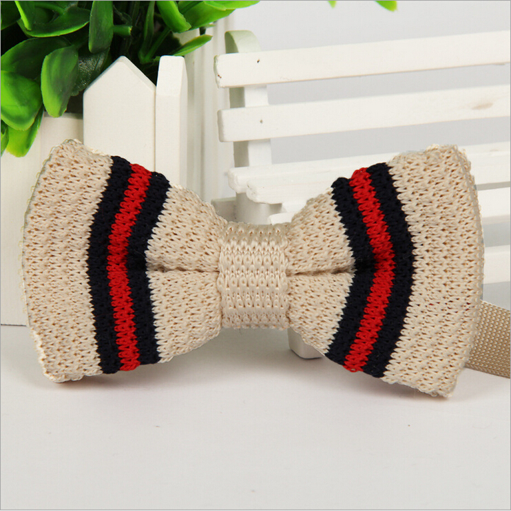 2015 New fashion Knitted Bow tie for men Mutil color Male Butterflies Neckwear Casual Cravat Party
