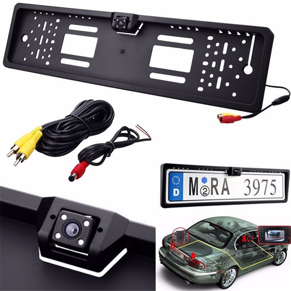 New Car Rear View Cameras Waterproof Europe License Plate Frame with Rear View Camera Embedded Mini Rear Camera(China (Mainland))