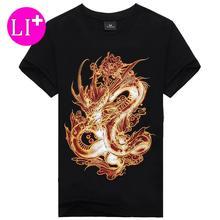 casual men short sleeve t-shirts cotton print dragon men 3D t shirt men's t shirt 3D designed plus size 3XL Female Brand T028