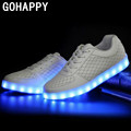 Led shoes for adults Unisex casual shoes led luminous shoes 2017 hot fashion led light shoes