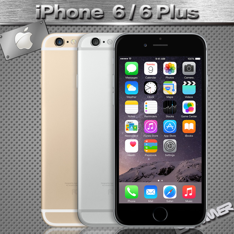 Original Unlocked Apple iPhone 6 Cell Phones 4.7'IPS 1GB RAM 16/64/128GB ROM GSM WCDMA LTE iPhone6 Mobile Used Phone(China (Mainland))