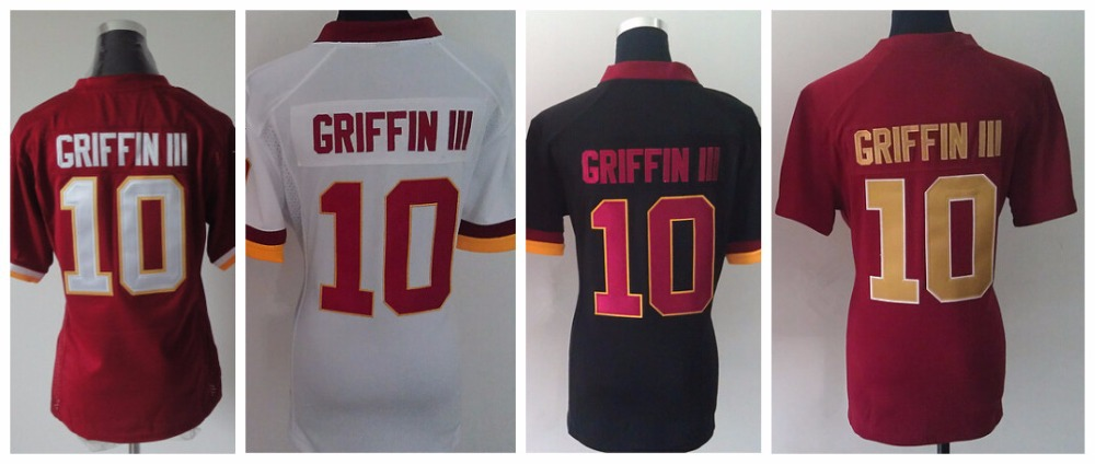 #10 Robert Griffin III Jersey,Womens Game Football Jersey,Best quality,Authentic Jersey,Size M L XL XXL XXXL,Accept Mix Order(China (Mainland))