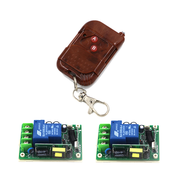 AC 85V-250V 30A 1CH wireless remote control switch wooden transmitter high power receiver for electronic door window SKU: 5488<br><br>Aliexpress