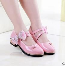 new spring and summer 2016 girls princess diamond bow shoes children's shoes single children's casual shoes sandals 4507