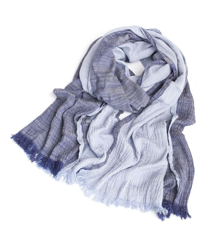 Fall Fashion Brand Winter Cotton Long Denim Blue Warm Cashmere Scarves Bufanda Escocesa Plaid Woven Wrinkled Cotton Scarf Men(China (Mainland))