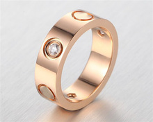 promotion Carter 925 silver gold ring for men with stone and gold screw love  ring TOP quality free shipping