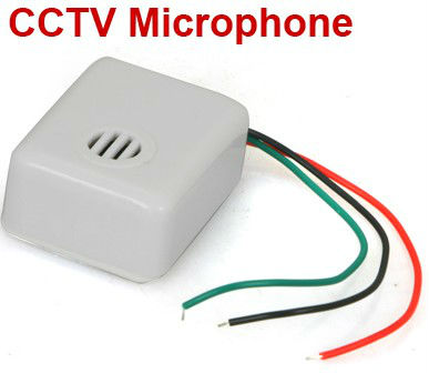 SMTKEY CCTV Microphone Mic for CCTV Camera DVR Security System free shipping(China (Mainland))