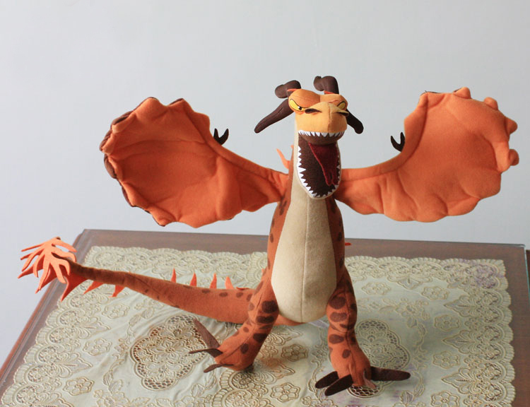 Free Shipping 36cm How to Train Your Dragon Plush Toy Firedragon Soft Stuffed Plush Toy(China (Mainland))