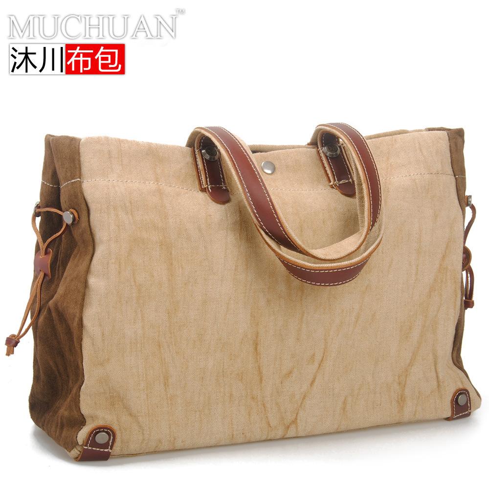 Cotton Canvas Bag Retro Portable Korean Leisure Package 2013 Summer New Men Bag 8564