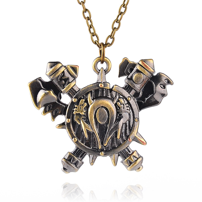 C0172 2016 The new European and American jewelry latest television movie Warcraft Horde symbol pendant necklace(China (Mainland))