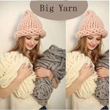 Korea Katie Fashion Thick Big Yarn For Hat & Scarf Thick Knitting DIY Super Big Knit Wool Yarn 250 Gram(China (Mainland))