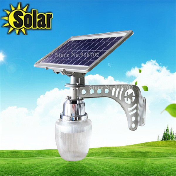2015NEW 6W solar powered led street light 10W solar panel apple lamp intergrated outdoor lighting gardern light sensor yard lamp(China (Mainland))